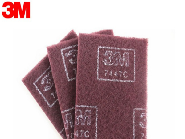 3m7447C/7447工业含砂百洁布 不锈钢拉丝清洁去污抛光除锈布 模切