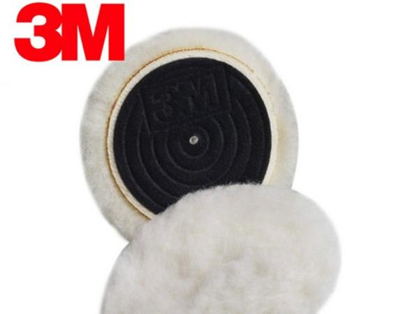 原装3m85099抛光羊毛球 3寸短毛汽车抛光/家具木器抛光上蜡羊毛轮
