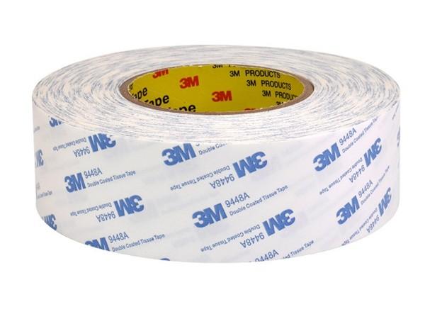 3m9448a白色无纺布超薄双面胶带