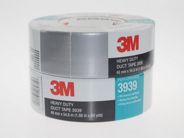 3M3939布基胶带 地板管道修补胶带 耐磨耐高温银色胶带 48mm*54m