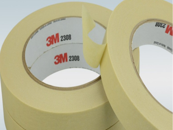 无锡南通泰州供3M2308美纹纸胶带 白色耐中温捆绑固定遮蔽胶带