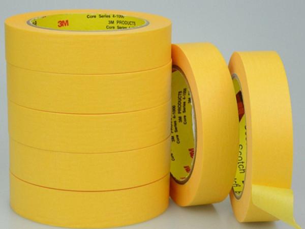 无锡供3M244黄色和纸胶带 耐高温汽车家电喷涂线路板焊接遮蔽胶带